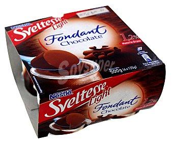Sveltesse Nestlé Fondant de chocolate de light 4 x 125 g
