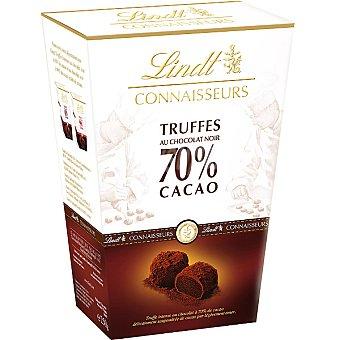 LINDT CONNAISSEURS Trufas al chocolate negro 70% cacao Estuche 250 g