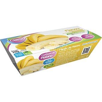 CLAROU Flanou flan de plátano proteico estuche 240 g pack 2 unidades