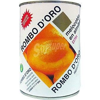 ROMBO D'ORO Melocotón en almíbar en mitades Lata 240 g neto escurrido