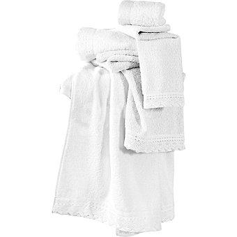 CASACTUAL Seda toalla tocador blanca con puntilla