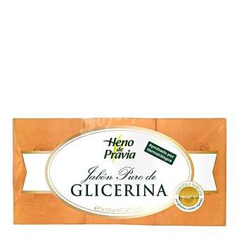 Heno de Pravia Jabón puro de glicerina en pastillas Pack 3x125 g