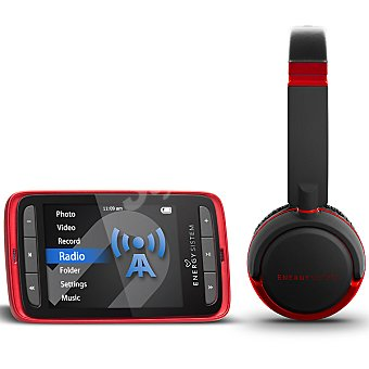 Energy Sistem DJ kit reproductor MP5 de 4 GB + auriculares tipo DJ Ruby Red 4304 1 unidad
