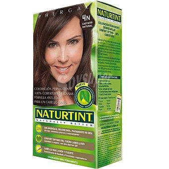 Naturtint Tinte castaño natural 4N color permanente sin amoniaco caja 1 unidad Caja 1 unidad