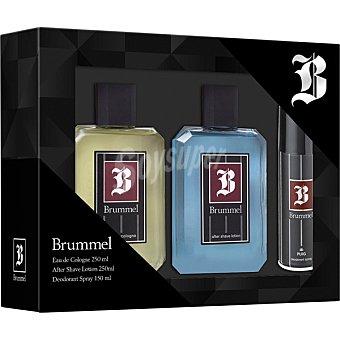 Brummel Eau de cologne masculina + loción after shave frasco 250 ml + desodorante spray 250 ml frasco 250 ml
