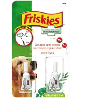 Friskies Purina Gotas herbales repelentes de insectos 2x2 ml 2 un