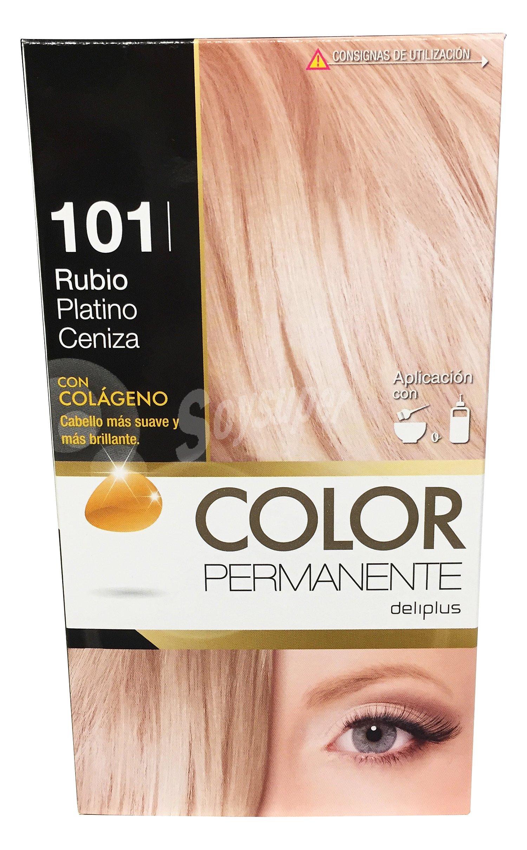 Deliplus tinte coloracion permanente n 101 rubio platino ceniza superaclarante u - Rubio platino en casa ...