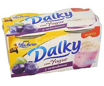 La Lechera Nestlé Copa de yogur con arándanos y nata montada 2 x 100 g