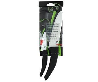 AUCHAN Pack de 2 cuchillos con hojas de cerámica de 7,6 centímetros y 15,25 centímetros Pack de 2