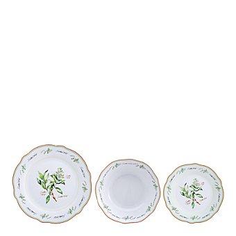 Vajilla en porcelana 18 piezas decorada Mod. WESTMIN 18 piezas