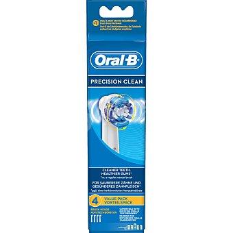 Oral-B Recambio de cepillo dental Precision Clean EB-20 blister 4 unidades 4 unidades