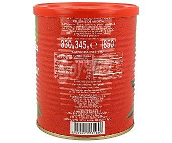 FLORESUR Aceitunas verdes manzanilla rellenas de anchoa, 345 gramos