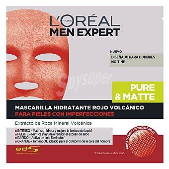 L'Oréal Men Expert Mascarilla facial hidratante masculina Rojo volcánico 1 ud