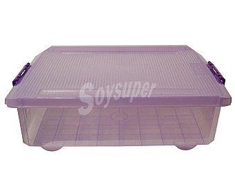 Tatay Caja multiusos con tapa color morado translúcido, 32 litros 1 unidad