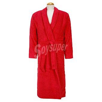 Casactual Rubi albornoz adulto talla XL de rizo americano color rojo