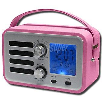 ANSONIC RR-1360 RS Radio reloj despertador en color rosa
