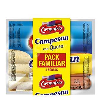 Campofrío Salchichas Campesan con queso Pack de 2x190 g