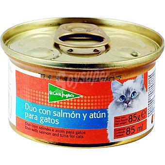 El Corte Inglés Alimento para gato dúo con salmón y atún Lata 85 g