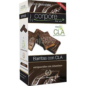 CORPORE DIET Barritas con CLA sabor chocolate enriquecidas con vitaminas envase 175 g 5 unidades