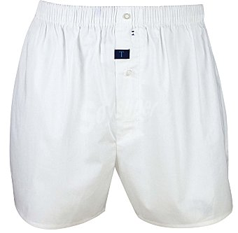 TRAPIO Bóxer de algodón, color blanco, talla L