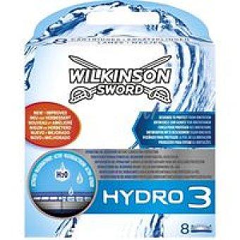 WILKINSON Hydro 3 Cargador de afeitar Pack 8 unid