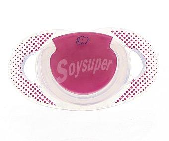 Bébé Confort 2 chupetes fisiológicos natural de silicona para bebes entre 18 y 36 meses, color fucsia