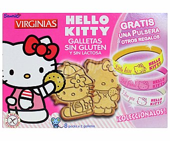 Virginias Galletas Hello Kitty sin gluten y sin lactosa Caja 158 g