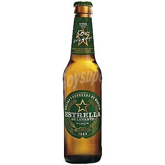 Estrella Levante Cerveza rubia nacional especial 50 Aniversario Botella 33 cl