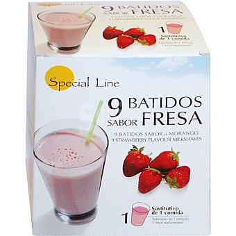 SPECIAL LINE batidos sabor fresa sustitutivos de 1 comida envase 270 g 9x35g