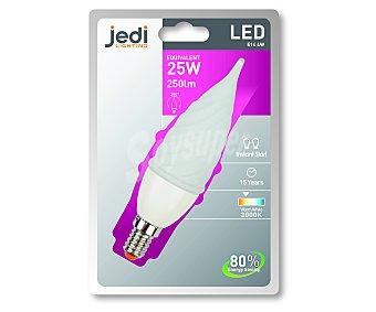 JEDI Bombilla led vela golpe de viento, 4 Wattios, casquillo E14 (fino), luz cálida 1 Unidad