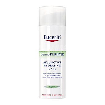 Eucerin Crema hidratante coadyuvante FP 30 Dermo purifyer para pieles grasas con tendencia acnéica. 50 ml