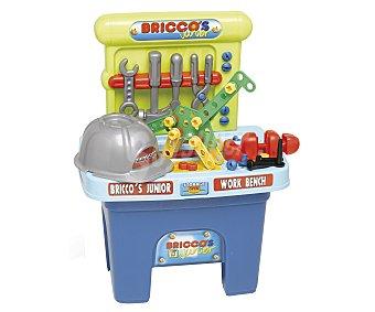 CHICOS Bricco's Banco de trabajo portátil con casco y, 53 accesorios y herramientas, 58x29,5x44 centímetros, Bricco's CHICOS.