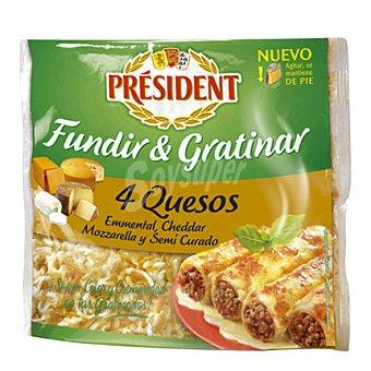 President Queso rallado 4 quesos Bolsa 150 g