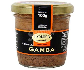 LOREA Crema para untar de gambas tarro de 100 gramos