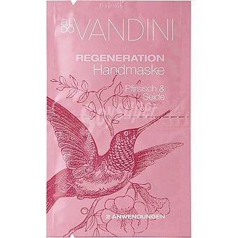 Aldo Vandini Máscara regeneradora de manos con melocoton & seda 2 x 7,5 ml 2 aplicaciones bolsa 15 ml bolsa 15 ml