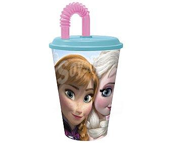 Disney Vaso con tapa y pajita, diseño Frozen, 0,43 litros de capacidad, modelo Frozen Timeless 1 Unidad
