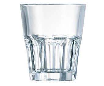 AUCHAN Vaso bajo para agua modelo New America, con capacidad de 30 centilitros y fabricado en vidrio 1 Unidad