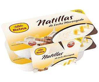 Reina Natillas sabor leche merengada sin gluten Pack 4 u x 125 g