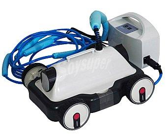 KOKIDO Limpiafondos eléctrico modelo Nórdica, recomendado para piscinas de hasta 80 metros cuadrados con fondo plano y cualquier tipo de revestimiento. Incluye filtro lavable y 12 metros de cable 1 Unidad