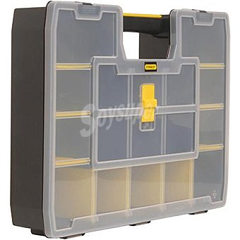 STANLEY Organizador transparente sortmaster Junior con varios compartimentos