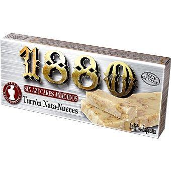 1880 Turrón nata nueces sin azúcar Tableta 200 g