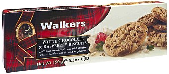 Walkers Walkers Galletas de Mantequilla con Chocolate Blanco y Frambuesa 150 g