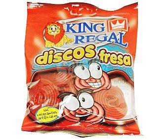 King Regal Discos de Fresa Bolsa de 100 Gramos