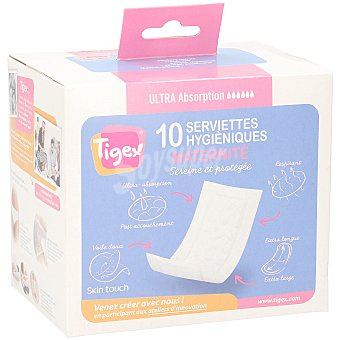 Tigex Compresas maternidad Caja 10 u