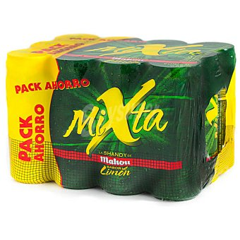 Mahou Cerveza sin alcohol con gaseosa sabor limón Mixta pack 12 latas de 33 cl