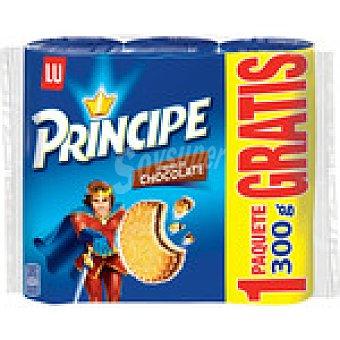 LU PRINCIPE Galletas rellenas de chocolate + 1 gratis Pack 2 paquetes 300 g + 1 gratis