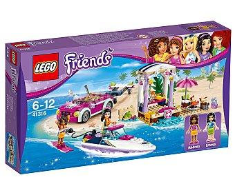 LEGO Friends Juego de construcciones con 309 piezas Remolque de la lancha de Andrea, Friends 41316 lego