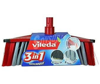 Vileda Cepillo antichoque 3 en 1 (polvo, esquinas y pelos) 1 unidad