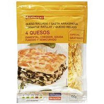 Eroski Queso rallado 4 quesos Bolsa 150 g