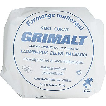 Grimalt Queso semicurado mallorquin peso aproximado pieza 35 kg 35 kg